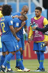 SAINT PETERSBURG, June 22, 2018  Neymar (C) of Brazil cries after the 2018 FIFA World Cup Group E match between Brazil and Costa Rica in Saint Petersburg, Russia, June 22, 2018. Brazil won 2-0. (Credit Image: © Cao Can/Xinhua via ZUMA Wire)