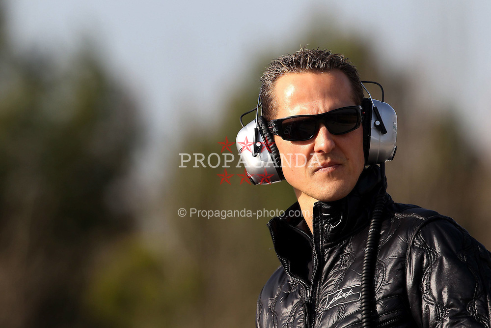 09.03.2011, Circuit de Catalunya, Barcelona, ESP, Formel 1 Test 4 2011,Michael Schumacher (GER), Mercedes GP EXPA Pictures © 2011, PhotoCredit: EXPA/ nph/  Poleposition.at ******* only for AUT, SLO *********