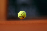 Tennis ball illustration while game during the Roland Garros French Tennis Open 2018, day 12, on June 7, 2018, at the Roland Garros Stadium in Paris, France - Photo Stephane Allaman / ProSportsImages / DPPI