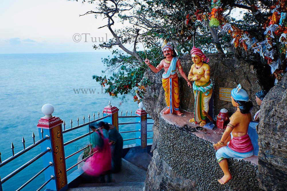 Sri Lanka, province de l'Est, Trincomalee, temple hindou de Konesvaram Kovil situé sur le promontoire de Swami Rock // Sri Lanka, Ceylon, Eastern Province, East Coast, Trincomalee, Hindu temple of Konesvaram Kovil, Swami Rock