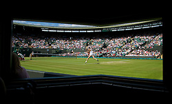 01.07.2014, All England Lawn Tennis Club, London, ENG, WTA Tour, Wimbledon, im Bild Lucie Safarova (CZE) during the Ladies' Singles Quarter-Final match on day eight // during the Wimbledon Championships at the All England Lawn Tennis Club in London, Great Britain on 2014/07/01. EXPA Pictures © 2014, PhotoCredit: EXPA/ Propagandaphoto/ David Rawcliffe<br /> <br /> *****ATTENTION - OUT of ENG, GBR*****