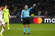 Referee Cüneyt Cakir during the UEFA Champions League, round of 16, 1st leg football match between Olympique Lyonnais and FC Barcelona on February 19, 2019 at Groupama stadium in Decines-Charpieu near Lyon, France - Photo Romain Biard / Isports / ProSportsImages / DPPI