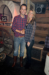 CHARLIE & ANNEKE GILKES at a party to celebrate the opening of Beaver Lodge, a new bar & club from the Inception Group at 266 Fulham Road, London SW10 on 4th December 2014.