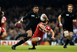 Waisake Naholo of New Zealand in possession - Mandatory byline: Patrick Khachfe/JMP - 07966 386802 - 02/10/2015 - RUGBY UNION - Millennium Stadium - Cardiff, Wales - New Zealand v Georgia - Rugby World Cup 2015 Pool C.