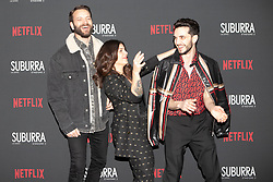 Alessandro Borghi, Daniela Collu e Giacomo Ferrara at the Red Carpet of the series Suburra 2 at Circolo Degli Illuminati in Rome, Italy, 20 February 2019 .Dress: Gucci, Alisi, Fendi  (Credit Image: © Lucia Casone/Soevermedia via ZUMA Press)