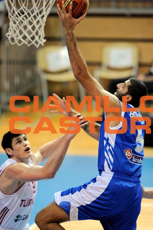 DESCRIZIONE : Capodistria Koper Slovenia Eurobasket Men 2013 Preliminary Round Turchia Grecia Turkey Greece<br /> GIOCATORE : Yannis Bouroussis<br /> CATEGORIA : tiro special<br /> SQUADRA : Grecia<br /> EVENTO : Eurobasket Men 2013<br /> GARA : Turchia Grecia Turkey Greece<br /> DATA : 07/09/2013 <br /> SPORT : Pallacanestro&nbsp;<br /> AUTORE : Agenzia Ciamillo-Castoria/N. Dalla Mura<br /> Galleria : Eurobasket Men 2013 <br /> Fotonotizia : Capodistria Koper Slovenia Eurobasket Men 2013 Preliminary Round Turchia Grecia Turkey Greece
