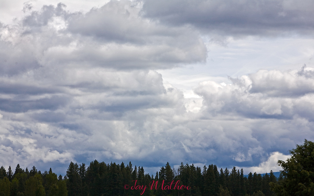 Spring rain clouds over the high desert of central Oregon.
