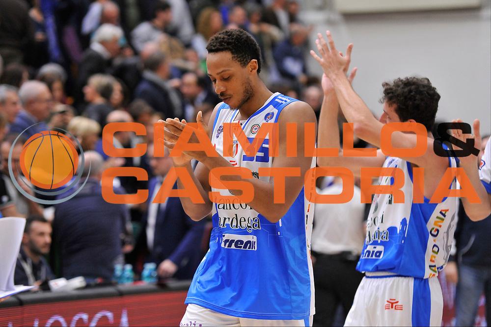 DESCRIZIONE : Beko Legabasket Serie A 2015- 2016 Dinamo Banco di Sardegna Sassari - Openjobmetis Varese<br /> GIOCATORE : Kenneth Kadji<br /> CATEGORIA : Ritratto Esultanza Postgame<br /> SQUADRA : Dinamo Banco di Sardegna Sassari<br /> EVENTO : Beko Legabasket Serie A 2015-2016<br /> GARA : Dinamo Banco di Sardegna Sassari - Openjobmetis Varese<br /> DATA : 07/02/2016<br /> SPORT : Pallacanestro <br /> AUTORE : Agenzia Ciamillo-Castoria/C.Atzori