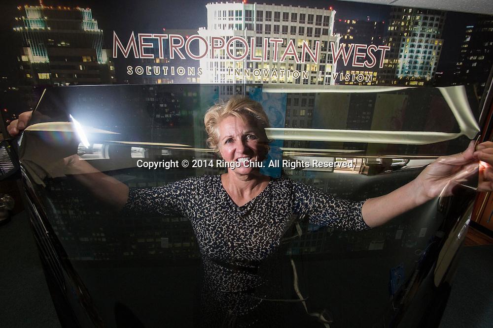 Kelly Taylor, principal, Metropolitan West, a Los Angeles window film installer. (Photo by Ringo Chiu/PHOTOFORMULA.com)