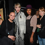 Gail Porter, Lewis-Duncan Weedon, Annaliese Dayes and Emma attend Press night an halloween experience at  London Tombs at The London Bridge Experience, UK. 18 October 2018.