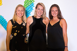 September 22, 2018 - Daria Gavrilova of Australia & Anastasia Pavlyuchenkova and Daria Kasatkina of Russia on the red carpet at the 2018 Dongfeng Motor Wuhan Open WTA Premier 5 tennis tournament players party (Credit Image: © AFP7 via ZUMA Wire)