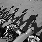 A street scene in  Paris, France showing Velib bike, a large scale public biking system in Paris France. 28th February 2011. Photo Tim Clayton
