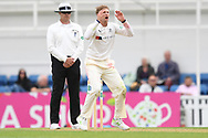 Joe Root of Yorkshire goes close during the Specsavers County C'ship Div One match at the Kia Oval, London<br /> Picture by Simon Dael/Focus Images Ltd 07866 555979<br /> 11/05/2018