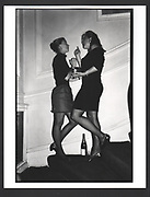 Carolyn Wroughton and Shona McKinney at Jo Farrell's 30th birthday party. Polish Club. London. 1988.Exhibition in a Box