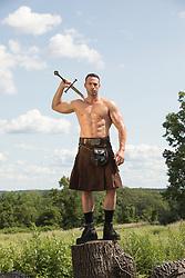 hot muscular man in a kilt