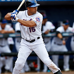 March 6, 2011; Port St. Lucie, FL, USA; New York Mets center fielder Carlos Beltran (15) during a spring training exhibition game against the Boston Red Sox at Digital Domain Park. The Mets defeated the Red Sox 6-5.  Mandatory Credit: Derick E. Hingle