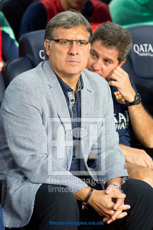 Picture by Cristian Trujillo/Focus Images Ltd +34 64958 5571<br /> 24/09/2013<br /> x of FC Barcelona and y of Real Sociedad during the La Liga match at Camp Nou, Barcelona.