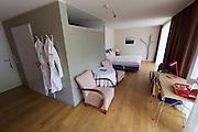 Neufelden, Austria. Genießerhotel Mühltalhof. A room with terrace.