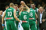 DESCRIZIONE : Kaunas Lithuania Lituania Eurobasket Men 2011 Quarter Final Round Spagna Slovenia Spain Slovenia<br /> GIOCATORE : team<br /> CATEGORIA : team esultanza<br /> SQUADRA : Spagna Spain <br /> EVENTO : Eurobasket Men 2011<br /> GARA : Spagna Slovenia Spain Slovenia<br /> DATA : 14/09/2011<br /> SPORT : Pallacanestro <br /> AUTORE : Agenzia Ciamillo-Castoria/G.Matthaios<br /> Galleria : Eurobasket Men 2011<br /> Fotonotizia : Kaunas Lithuania Lituania Eurobasket Men 2011 Quarter Final Round Spagna Slovenia Spain Slovenia<br /> Predefinita :