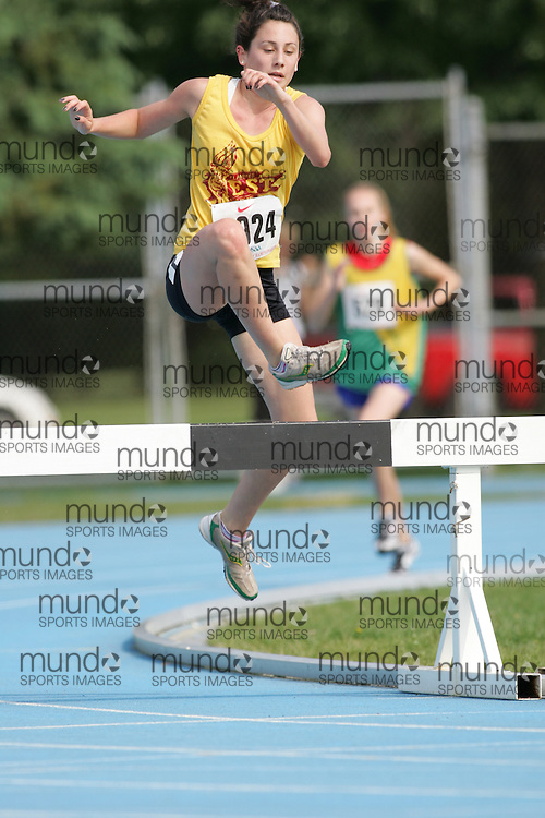 \o competing in the 2000m steeple chase at the 2007 OFSAA Ontario High School Track and Field Championships in Ottawa.