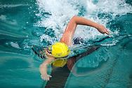 Leah Neale lors de l'épreuve du 400m nage libre pendant les Championnats du monde de natation, le 27 aout à Chartres.