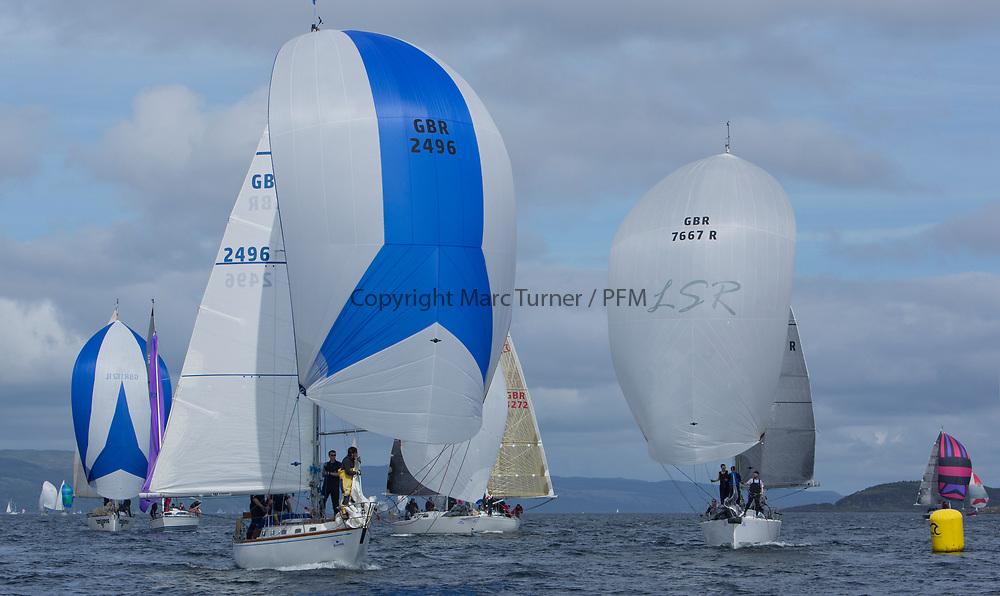 Silvers Marine Scottish Series 2017<br /> Tarbert Loch Fyne - Sailing<br /> <br /> GBR2496, Valhalla of Ashton , Alan Dunnet , CCC , Swan 36<br /> <br /> Credit: Marc Turner / CCC