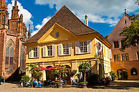 House of Baden Wine (Haus der Badischen Weine) on Munsterplatz, Freiburg, Baden-Württemberg, Germany