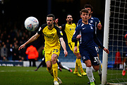 Jamie Murphy of Burton Albion next to Tom Clifford of Southend Uniteed who deflected the ball during the EFL Sky Bet League 1 match between Southend United and Burton Albion at Roots Hall, Southend, England on 22 February 2020.