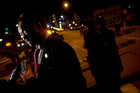 The Reverand Jesse Jackson takes a interview as supporters take to Chicago's Grant Park for the election night results for the presidential race between Sen. Barak Obama (D-IL) and Sen. John McCain (R-AZ) Tuesday Nov. 4, 2008 Chicago IL.