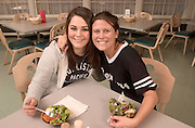 16725Shivley Dining Hall :Student Shots..Alex Berger, Lauren Winngettsahr, Ashley Frounfelter, Alison Petrie, Lauren Bonfante..Shivley Dining Hall