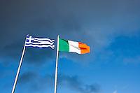 Irish and Greek flag in Dublin.