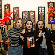 13.02.2018.<br /> University of Limerick International Office Chinese New Year Celebrations, Chungs Chinese Cuisne Castletroy. <br />  Pictured at the event were UL International students, Shiaqi Wu, Ting He and Xiaoyuam Mai. Picture: Alan Place