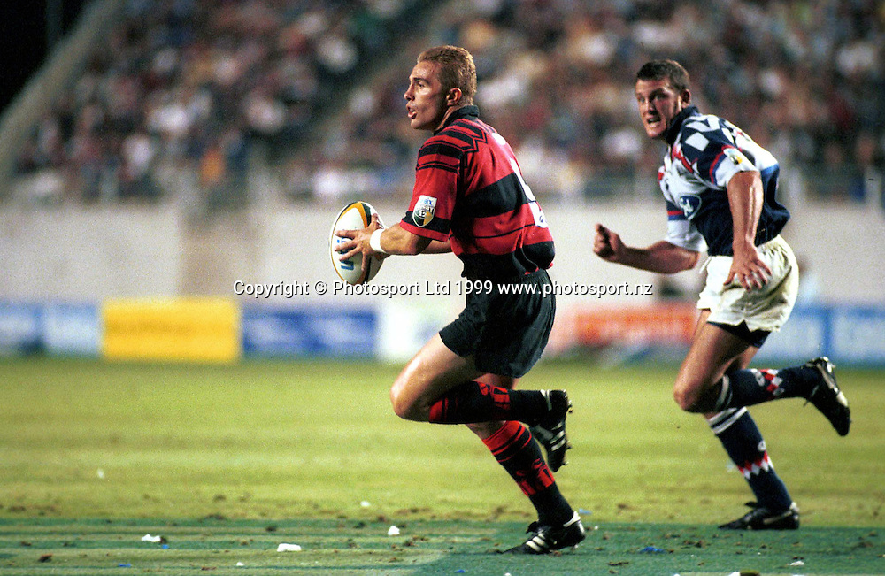 Crusaders rugby union player, during a Super 12 rugby match. New Zealand, 1999. Photo: PHOTOSPORT