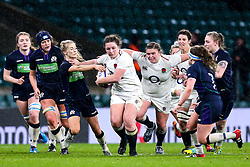 Amy Cokayne of England Women breaks through - Mandatory by-line: Robbie Stephenson/JMP - 16/03/2019 - RUGBY - Twickenham Stadium - London, England - England Women v Scotland Women - Women's Six Nations