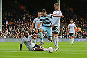 Queens Park Rangers midfielder Massimo Luongo (21) breaks through defence during the EFL Sky Bet Championship match between Fulham and Queens Park Rangers at Craven Cottage, London, England on 1 October 2016. Photo by Jon Bromley.