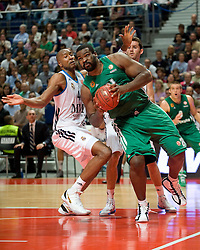 First stage match of the Euroleague Basketball Regular between Real Madrid v Panathinaikos Athens in the Palacio de Deportes Comunidad de Madrid with Real Madrid 85-78 victory, Madrid, Spain, October 12, 2012. Oscar Gonzalez / i-Images...SPAIN OUT