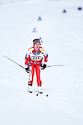 Schladming, Austria - 2017 March 20: Regine Bdinka from SO Austria competes in Cross Country Race while Special Olympics World Winter Games Austria 2017 in Ramsau am Dachstein on March 20, 2017 in Schladming, Austria.<br /> <br /> Mandatory credit:<br /> Photo by &copy; Adam Nurkiewicz / Mediasport<br /> <br /> Adam Nurkiewicz declares that he has no rights to the image of people at the photographs of his authorship.<br /> <br /> Picture also available in RAW (NEF) or TIFF format on special request.<br /> <br /> Any editorial, commercial or promotional use requires written permission from the author of image.<br /> <br /> Image can be used in the press when the method of use and the signature does not hurt people on the picture.