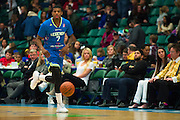 Ricky Ledo (7) of the Texas Legends brings the ball up court against the Los Angeles D-Fenders on Friday, January 9, 2015 at the Dr. Pepper Arena in Frisco, Texas. (Cooper Neill/Special Contributor)