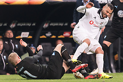 Ricardo Andrade Quaresma Bernardo of Besiktas JK  (R) gets a red card for a faul at Franz Brorsson of Malmo FF (L) during the UEFA Europa League group I match between between Besiktas AS and Malmo FF at the Besiktas Park on December 13, 2018 in Istanbul, Turkey
