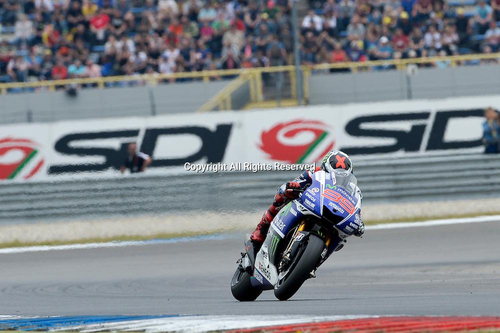 27.06.2014.  Assen, Netherlands. MotoGP. Iveco Daily TT Assen Qualifying. Jorge Lorenzo (Movistar yamaha Team) during the qualifying sessions at TT Assen circuit.