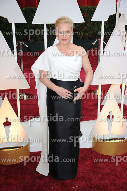 22.02.2015, Dolby Theatre, Hollywood, USA, Oscar 2015, 87. Verleihung der Academy of Motion Picture Arts and Sciences, im Bild Patricia Arquette // attends 87th Annual Academy Awards at the Dolby Theatre in Hollywood, United States on 2015/02/22. EXPA Pictures &copy; 2015, PhotoCredit: EXPA/ Newspix/ PGMP<br /> <br /> *****ATTENTION - for AUT, SLO, CRO, SRB, BIH, MAZ, TUR, SUI, SWE only*****