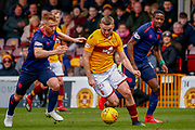 Allan Campbell of Motherwell during the Ladbrokes Scottish Premiership match between Motherwell and Heart of Midlothian at Fir Park, Motherwell, Scotland on 17 February 2019.