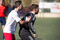 Trival Valderas's -- and Real Madrid Castilla´s  Benavente during 2014-15 Spanish Second Division B match between Trival Valderas and Real Madrid Castilla at La Canaleja stadium in Alcorcon, Madrid, Spain. February 01, 2015. (ALTERPHOTOS/Luis Fernandez)