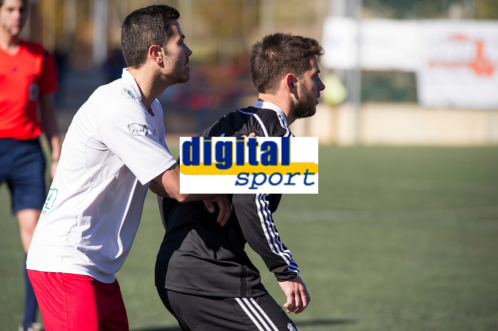 Trival Valderas's -- and Real Madrid Castilla´s  Benavente during 2014-15 Spanish Second Division B match between Trival Valderas and Real Madrid Castilla at La Canaleja stadium in Alcorcon, Madrid, Spain. February 01, 2015. (ALTERPHOTOS/Luis Fernandez)