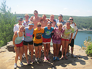 Students enjoy hiking at Devil's Lake State Park during their Wisconsin Basecamp trip in 2011.  Wisconsin Basecamp is an outdoor experience open to incoming University of Wisconsin-Madison freshman students.