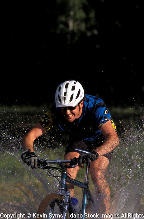 THIS PHOTO IS AVAILABLE FOR WEB DOWNLOAD ONLY. PLEASE CONTACT US FOR A LARGER PHOTO. Idaho. Adam's Gulch. Mountain Biking. Tom Shepard.  MR