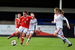 MERTHYR, WALES - Thursday, February 16, 2017: Wales' Meesha Dudley-Jones in action  during a Women's Under-17's International Friendly match against Hungary  at Penydarren Park. (Pic by Laura Malkin/Propaganda)