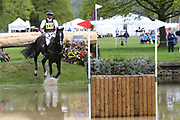 Andrew Nicholson (NZL) riding Yacabo Bk during the International Horse Trials at Chatsworth, Bakewell, United Kingdom on 13 May 2018. Picture by George Franks.