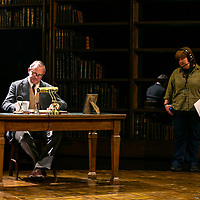 SHADOWLANDS by Nicholson ;<br /> Hugh Bonneville as C.S.Lewis (Jack) ;<br /> Stage Manager ;<br /> Directed by Rachel Kavanaugh ;<br /> Designed by Peter McKintosh ;<br /> Chichester Festival Theatre ;<br /> 1st May 2019 ;<br /> © Pete Jones<br />pete@pjproductions.co.uk