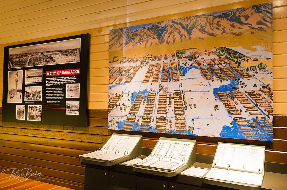 Visitor center display at Manzanar National Historic Site, Lone Pine, California USA